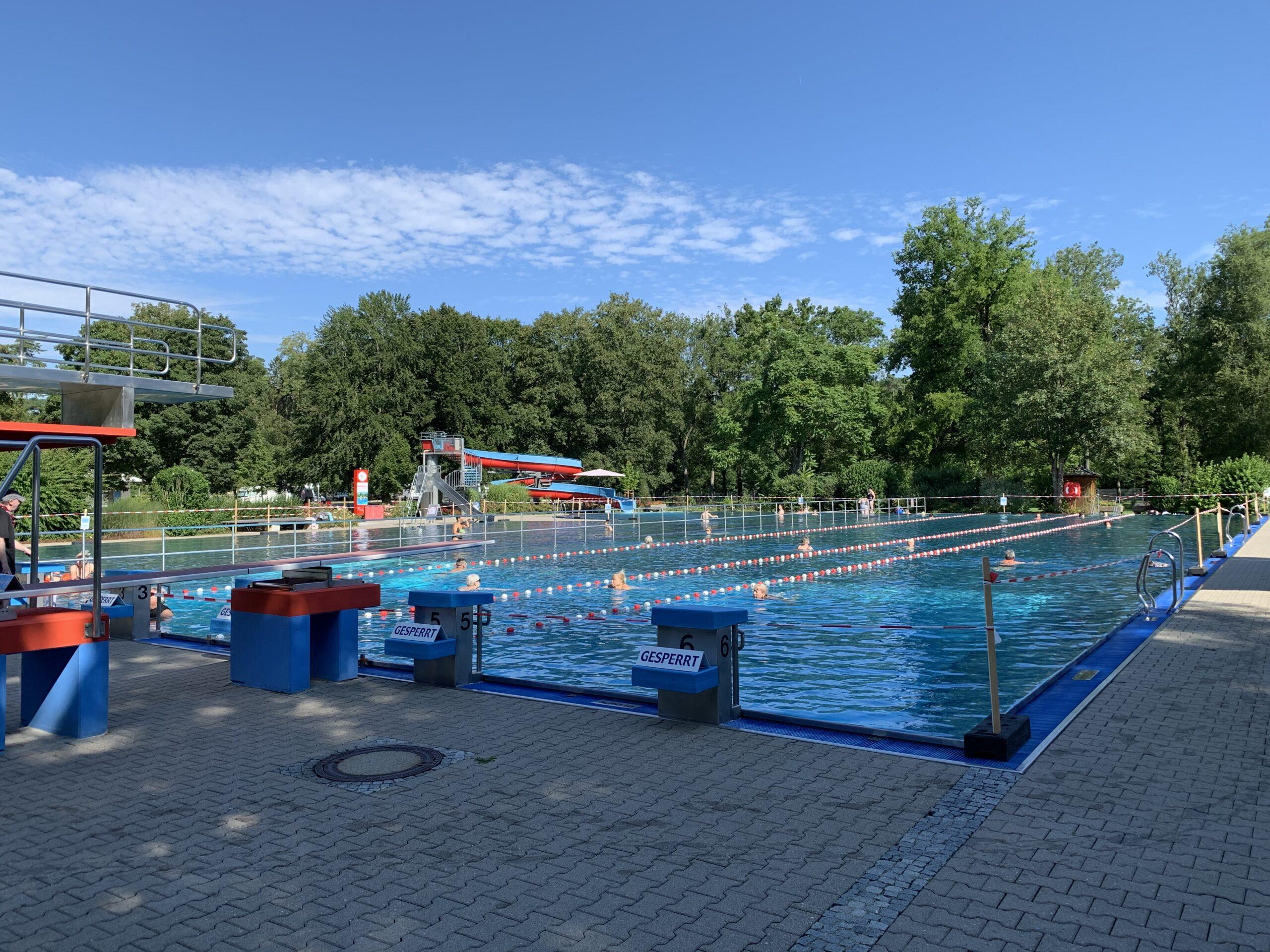 Blick auf das Schwimmerbecken
