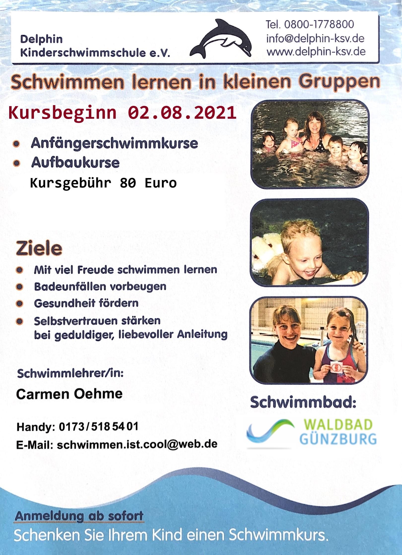 Flyer Delphin Schwimmschule